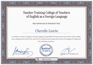 International Tefl Academy Certificate Med