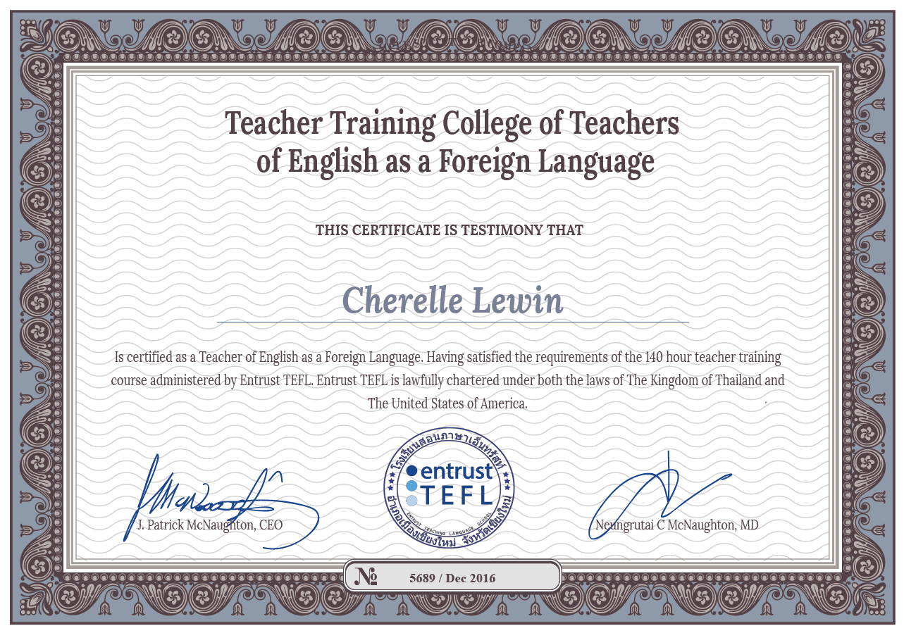 Course Schedule And Assessment Best Tefl Course